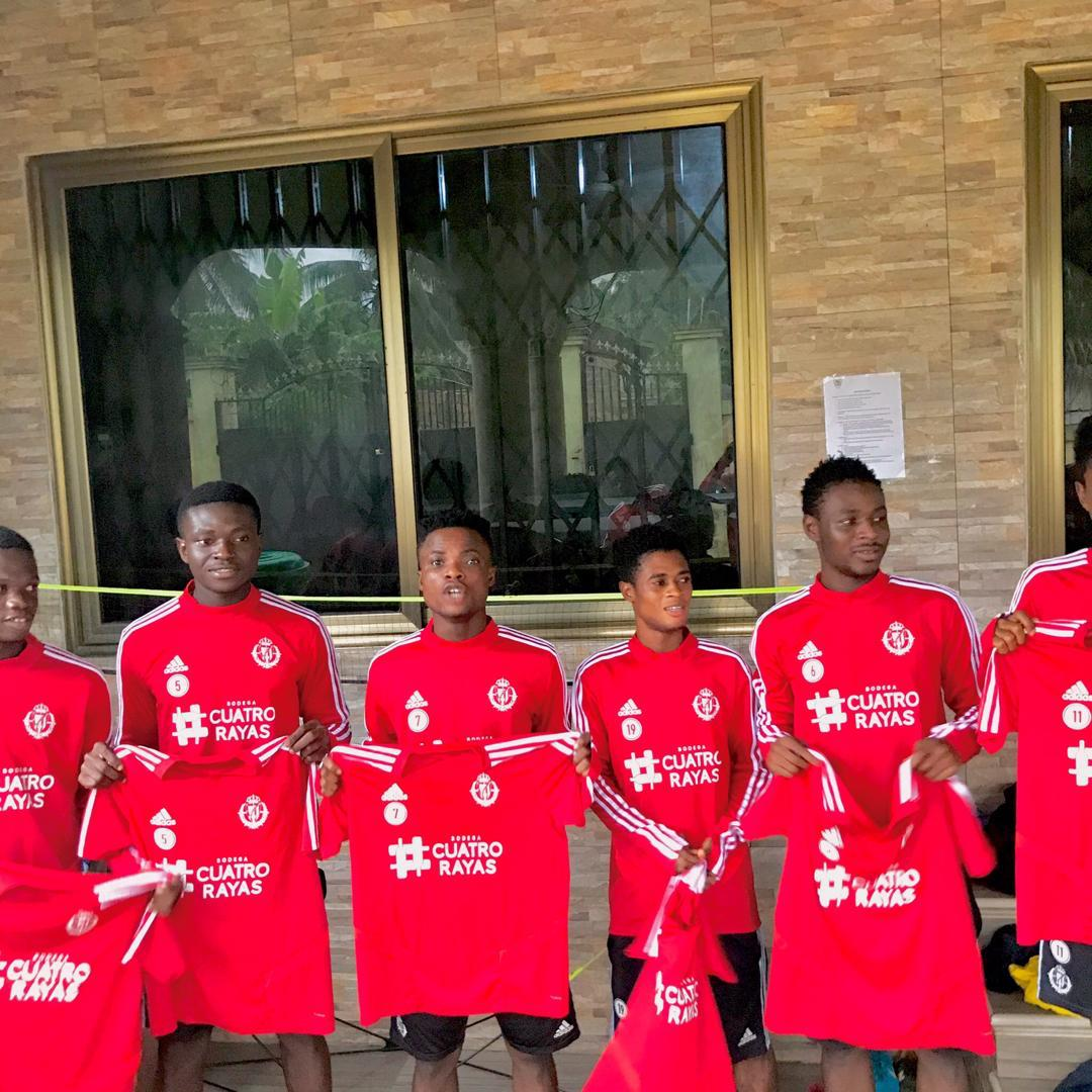 Spanish side Real Valladolid donate jerseys to Ghanaian football academy African Talent