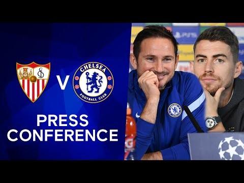 Frank Lampard & Jorginho Live Press Conference: Sevilla v Chelsea | Champions League
