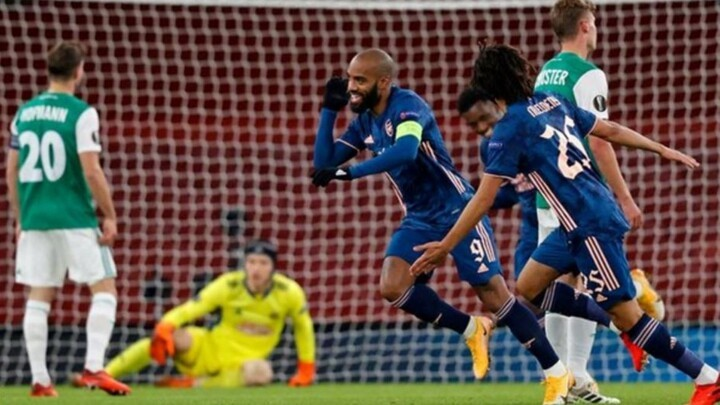 Arsenal 4-1 Rapid Wien: Lacazette nets as Gunners curise to an emphatic victory