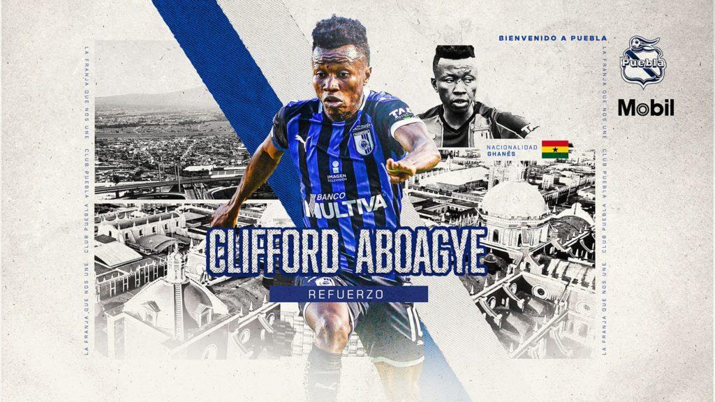 OFFICIAL: Ghana midfielder Clifford Aboagye joins Mexican side Club Puebla on season-long loan