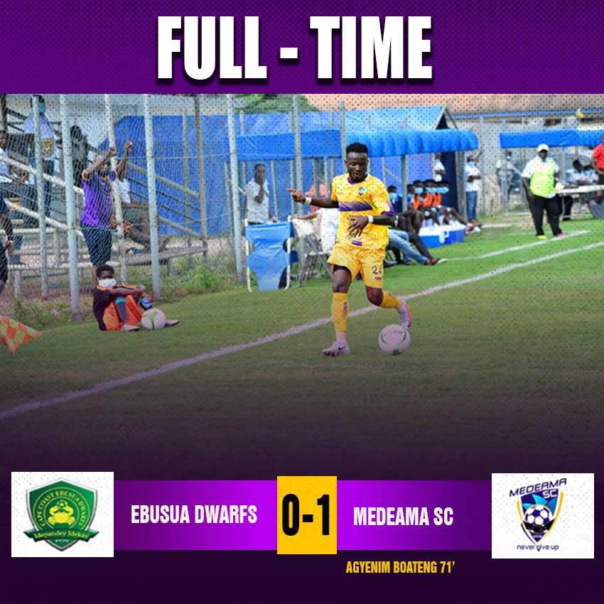 2020/21 Ghana Premier League: Week 5 Match Report — Ebusua Dwarfs 0-1 Medeama SC