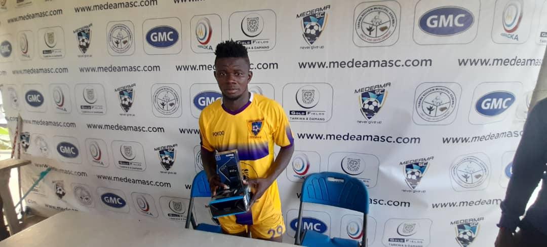 Medeama SC star Kwasi Donsu bags MoTM award after scintillating display against Liberty Professionals