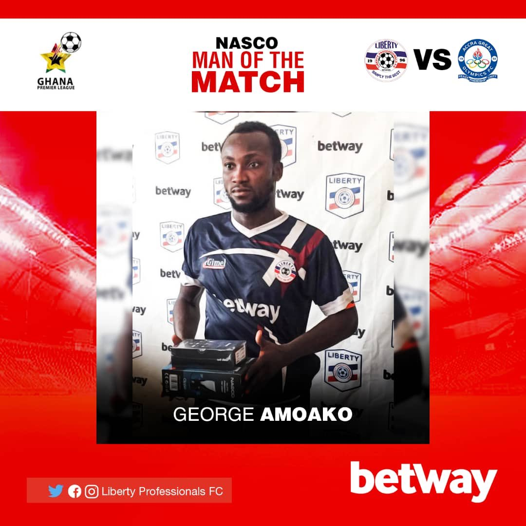 2020/21 Ghana Premier League: Liberty's George Amoako named MOTM in victory over Great Olympics