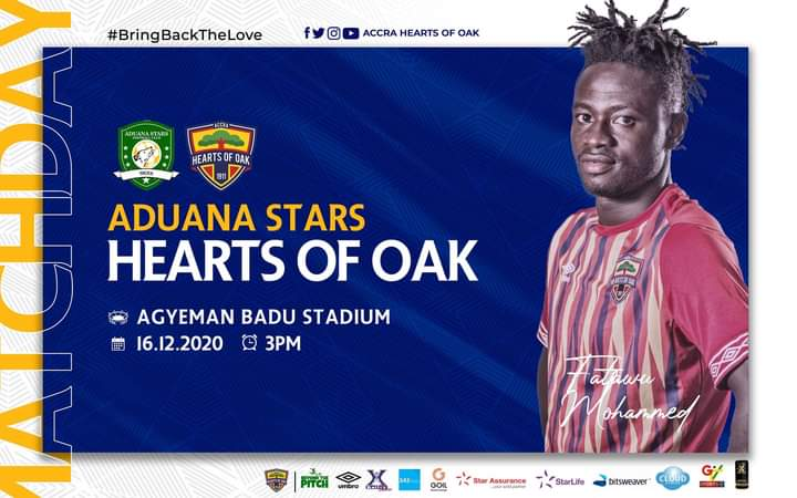 2020/21 Ghana Premier League: Live Updates- Aduana Stars vs Hearts of Oak