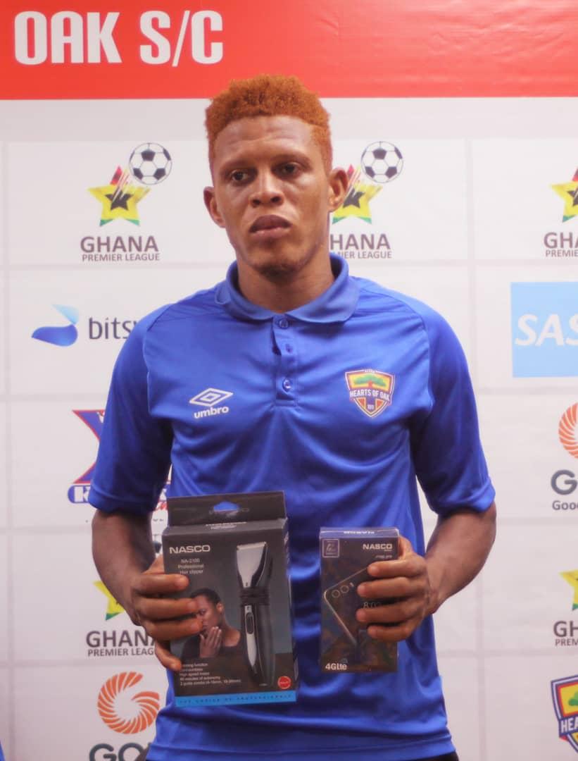 2020/21 Ghana Premier League: Hearts of Oak defender Larry Sumaila named man of the match in Karela United draw
