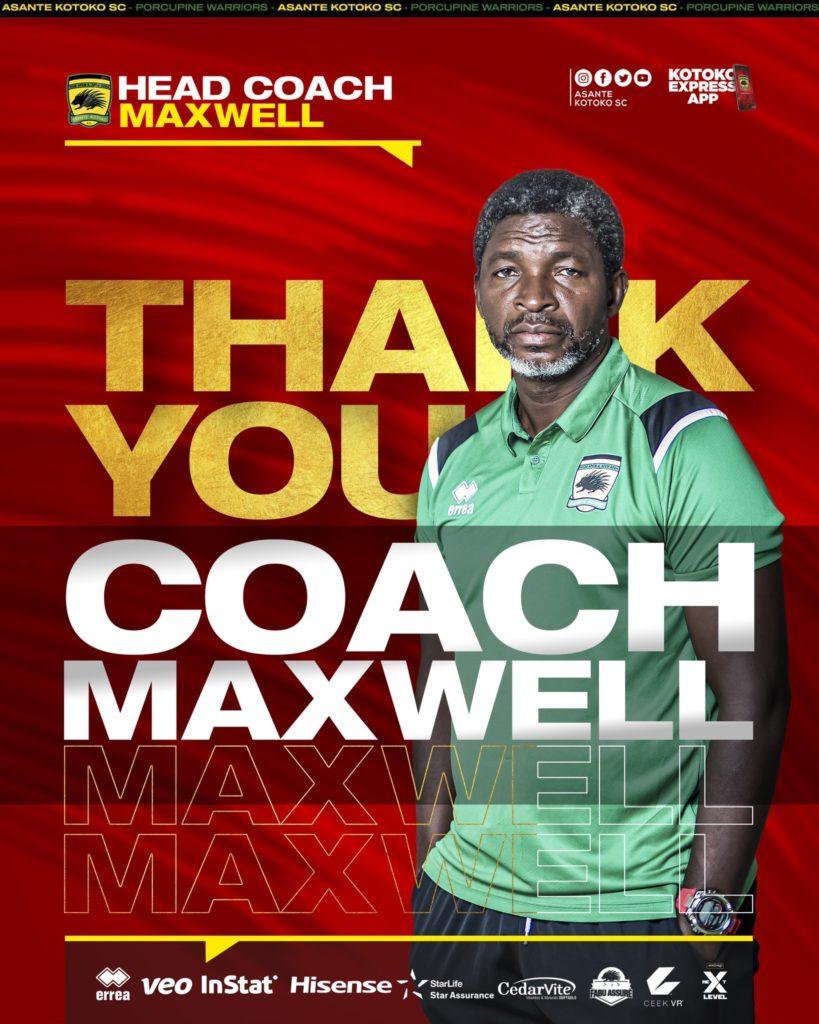 BREAKING: Asante Kotoko sack coach Maxwell Konadu