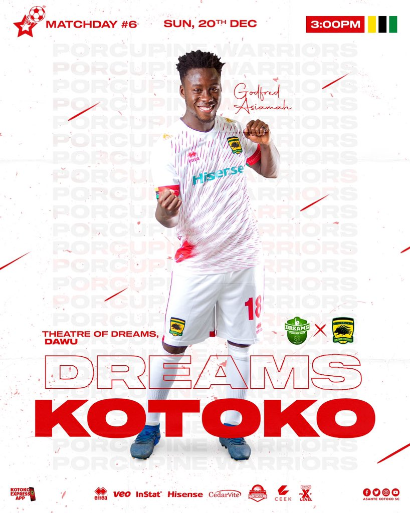 2020/21 Ghana Premier League: Live Updates- Dreams vs Asante Kotoko