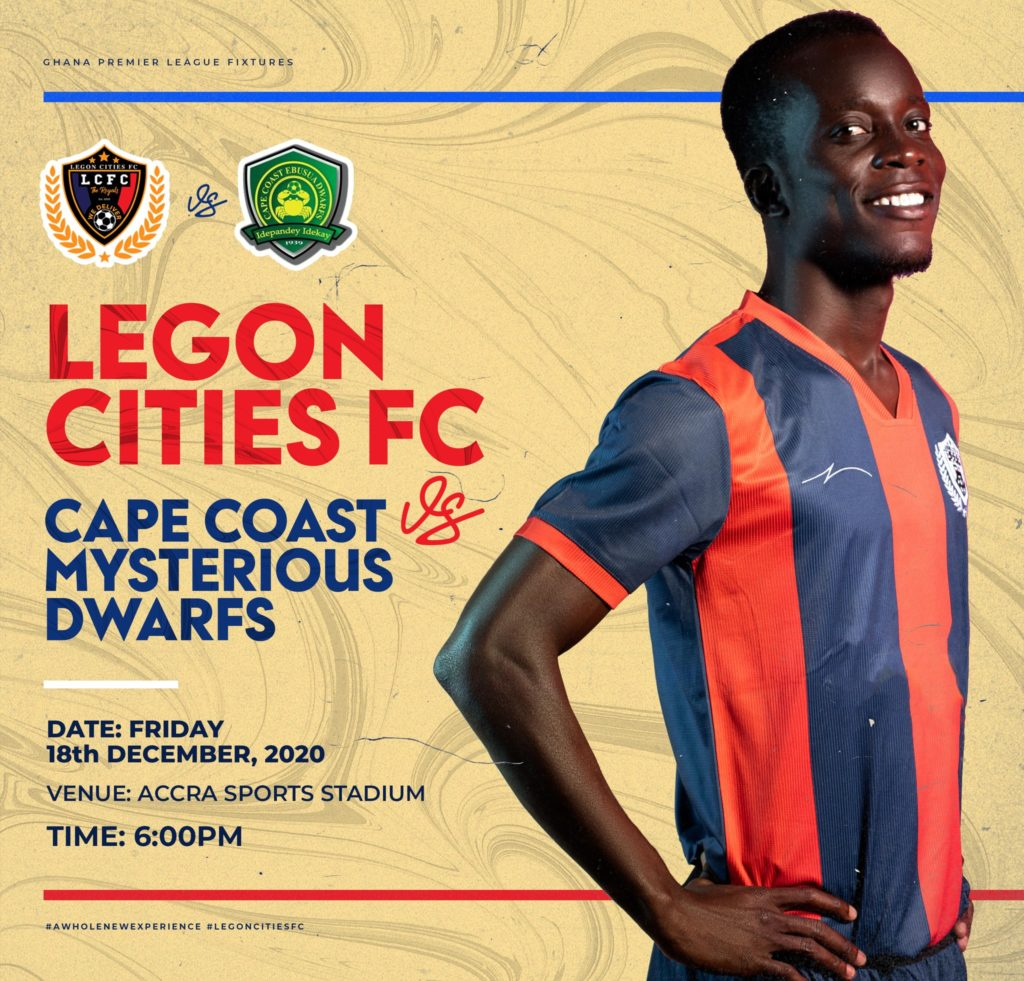 2020/21 Ghana Premier League: Week 6 Match Preview- Legon Cities v Ebusua Dwarfs