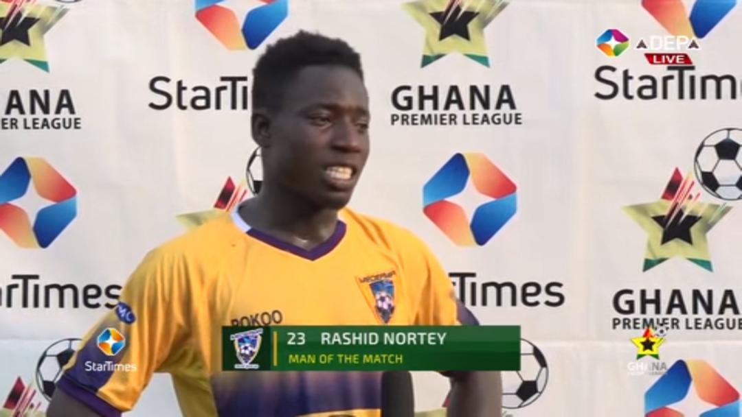 2020/21 Ghana Premier League: Medeama's gem Rashid Nortey wins MOTM against Kotoko