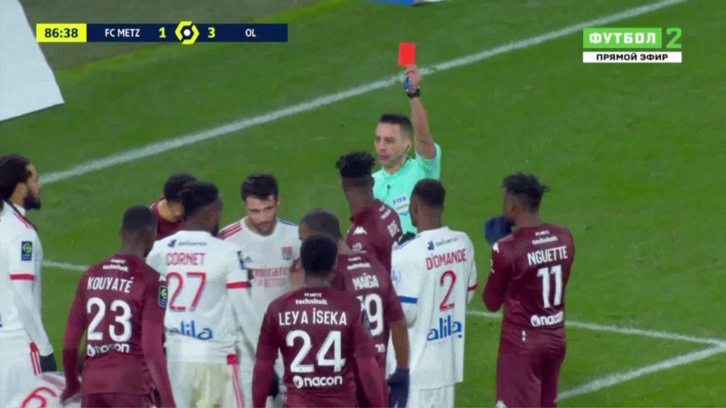 VIDEO: John Boye picks HARSH red card as FC Metz suffer defeat against Lyon