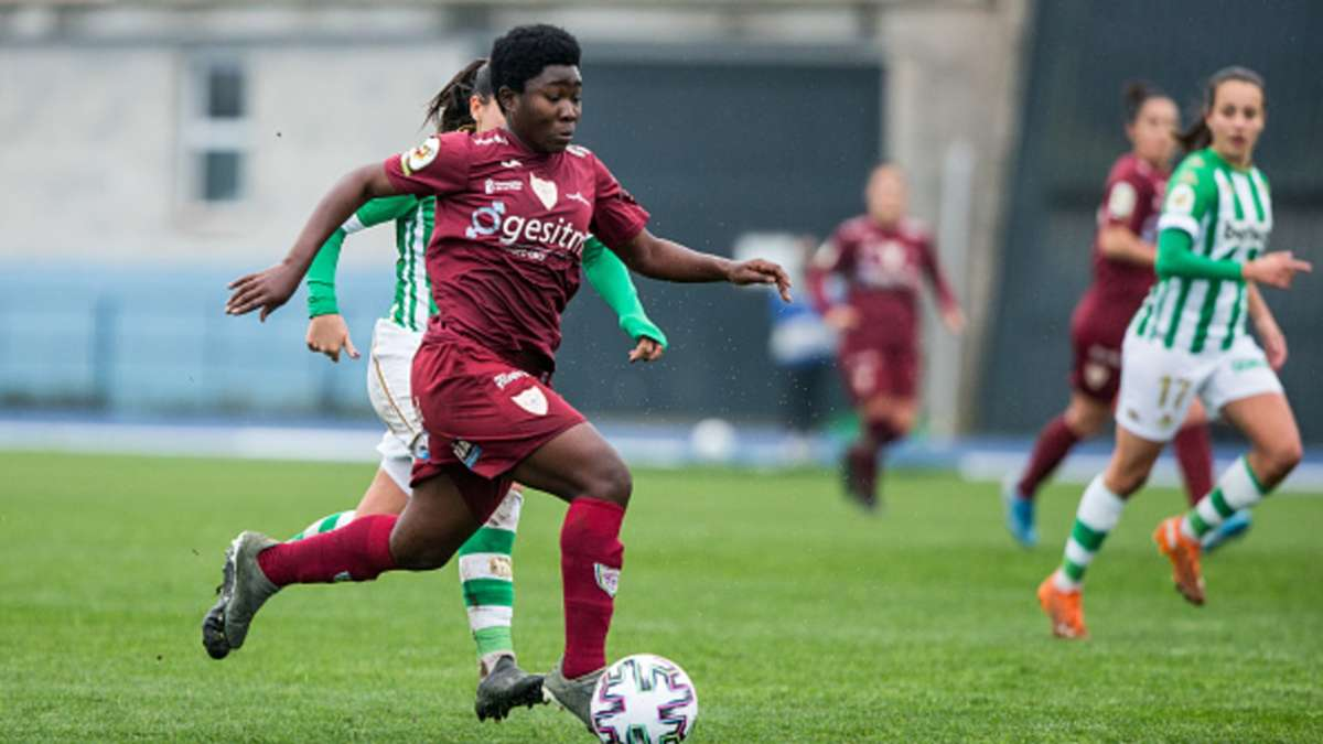 Ghana midfielder Grace Asantewaa opens Spanish Primera Iberdrola account with a brace in Logrono home victory
