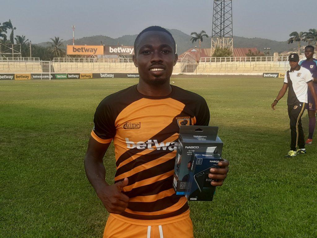 2020/21 Ghana Premier League: AshantiGold star David Abagna wins MVP award in victory over Berekum Chelsea