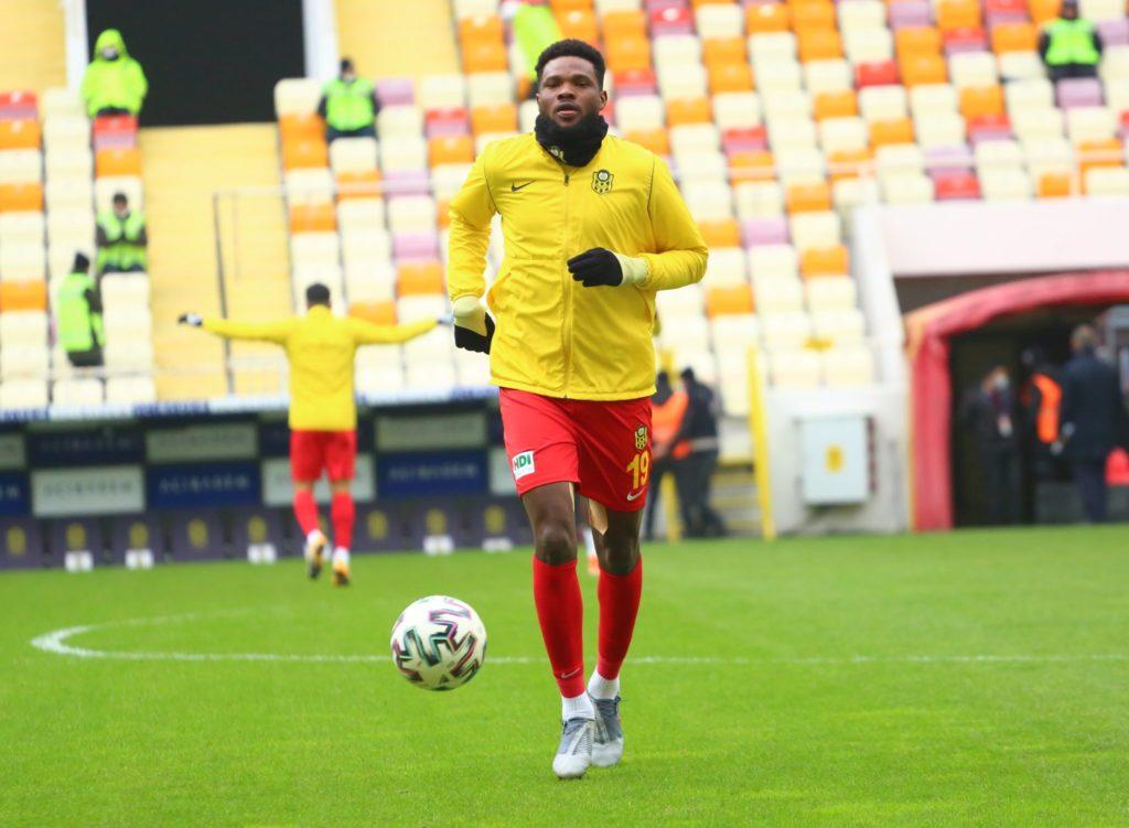 Ghanaian forward Benjamin Tetteh scores to rescue Yeni Malatyaspor from defeat against Sivasspor