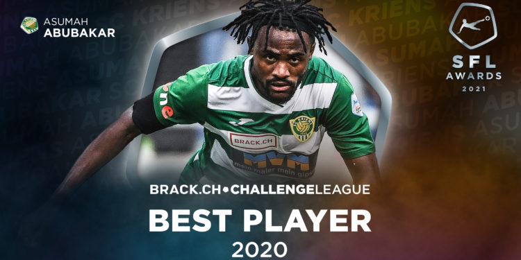 Ghanaian youngster Asumah Abubakar wins Swiss Challenge League Best Player award for 2020