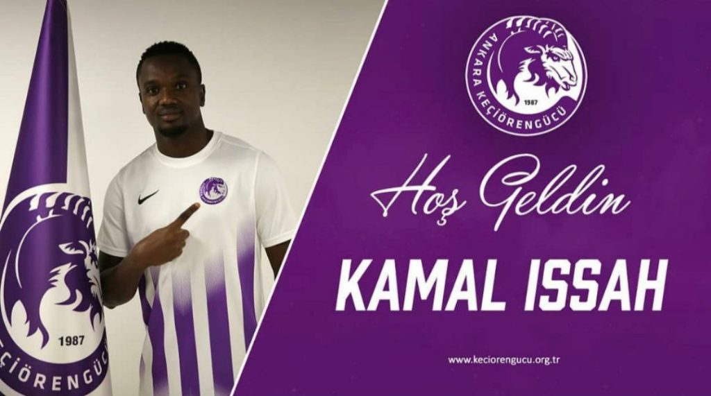 Ghanaian midfielder Kamal Issah joins Turkish club Ankara Keçiorengucu