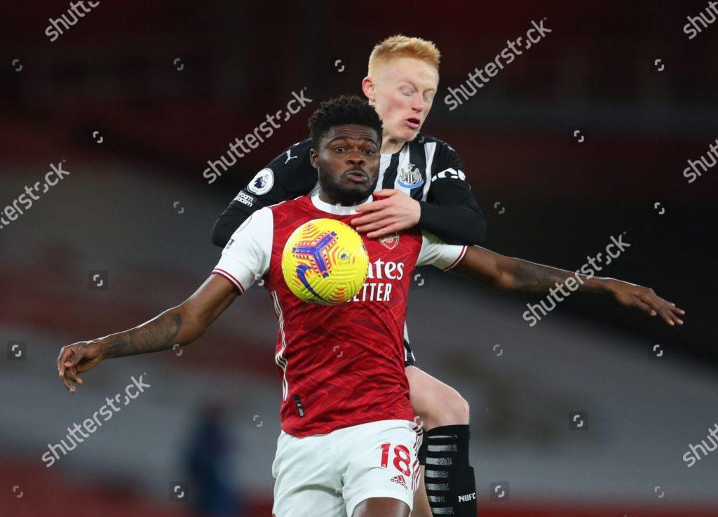 Ghana midfielder Thomas Partey picks maiden EPL assist as Arsenal hammer Newcastle United