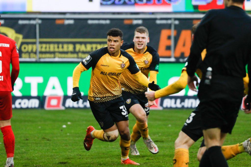 Ghanaian forward Richard Yeboah powers Dynamo Dresden to top of Bundesliga III table with goal against Kaiserslautern