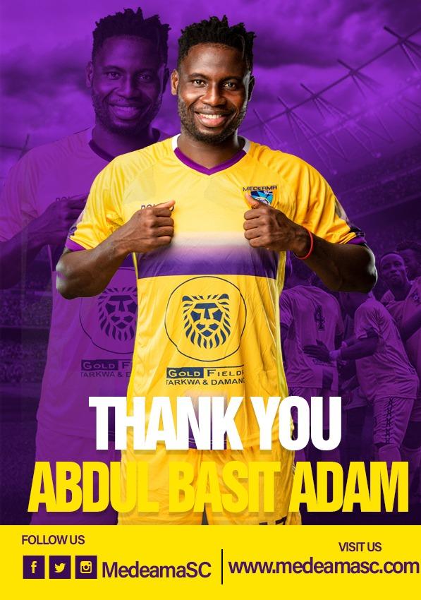 Medeama SC part ways with forward Abdul Basit Adam