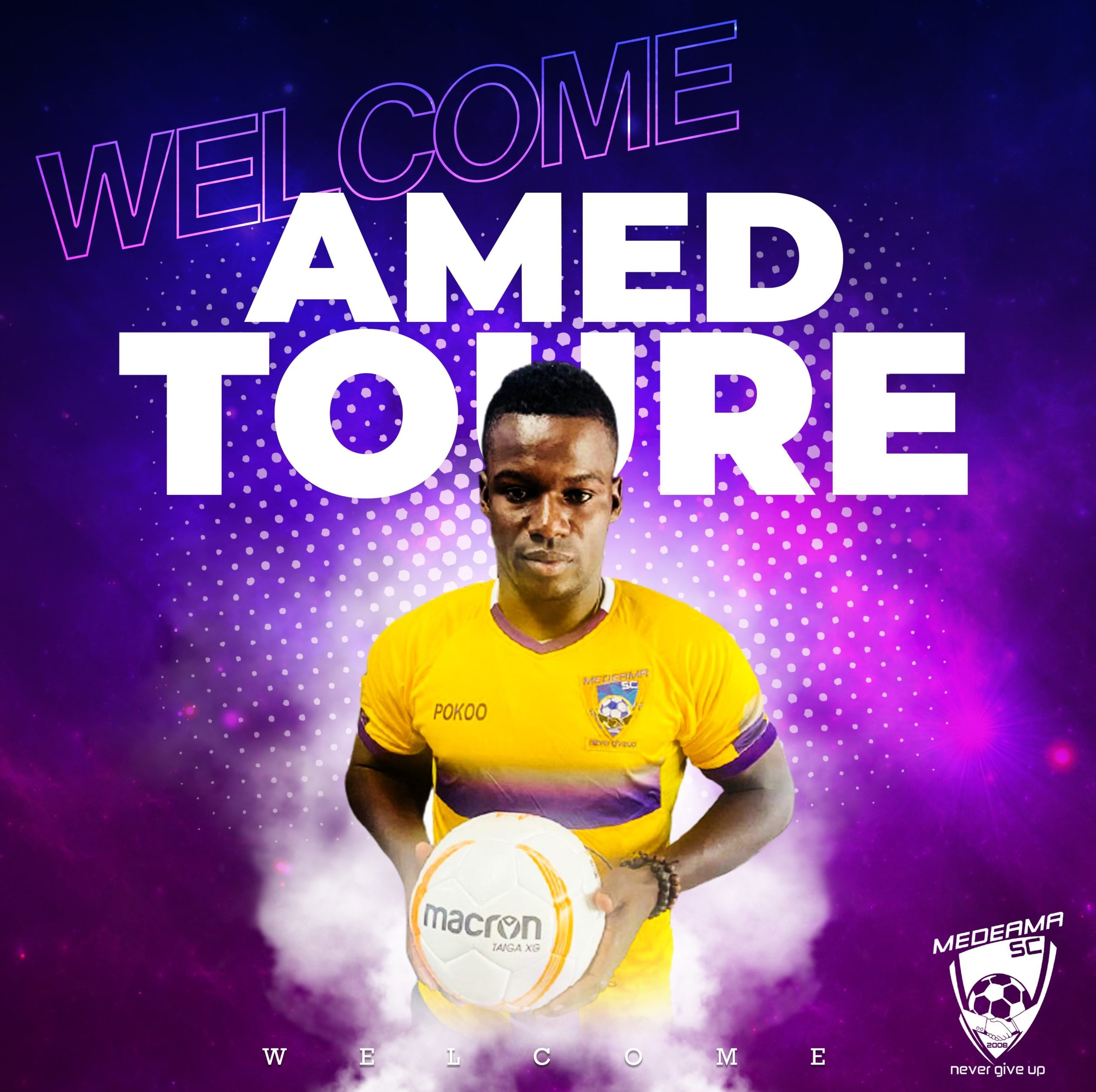 Medeama sign Amed Toure on a two-year deal