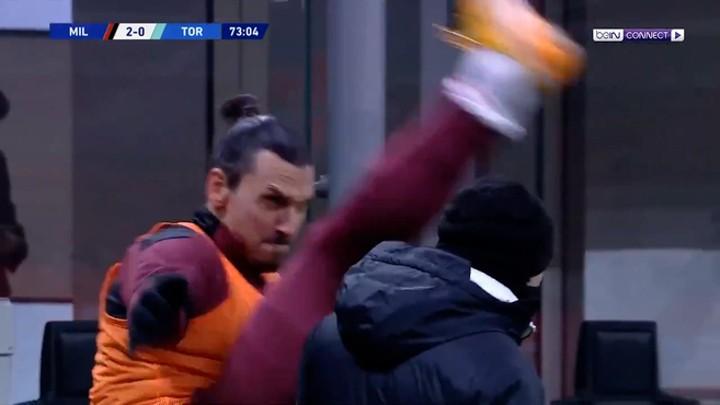 Ibrahimovic's warm-up goes viral: His taekwondo past allows him to do this at 39!