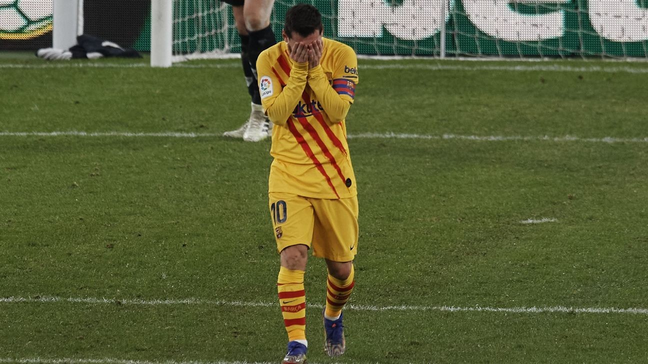 Barcelona's Messi struggling with injury