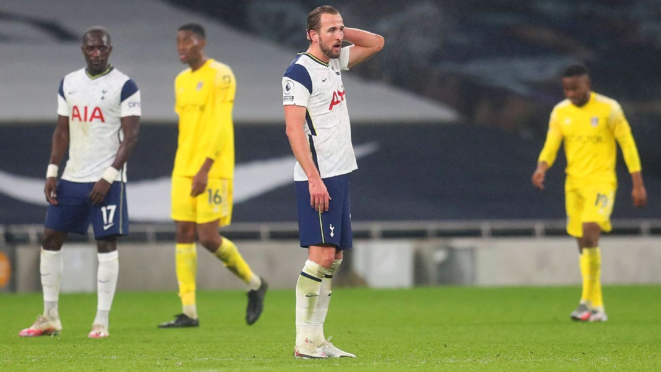 Spurs blow lead to draw at home vs. Fulham