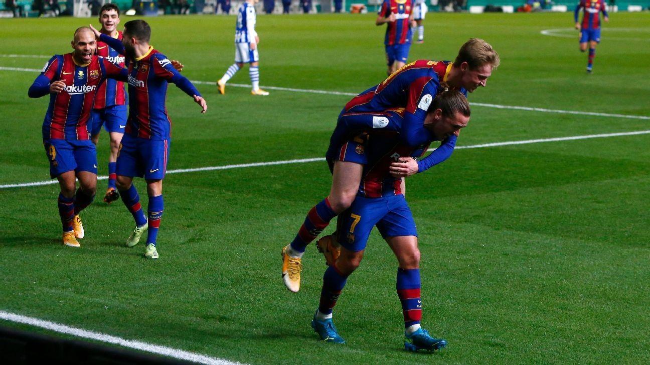 Messi-less Barca reach Supercopa final on pens
