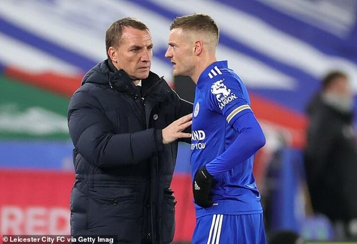 Rodgers 'hopeful' Vardy will be fit to face Chelsea after hip problem flares up