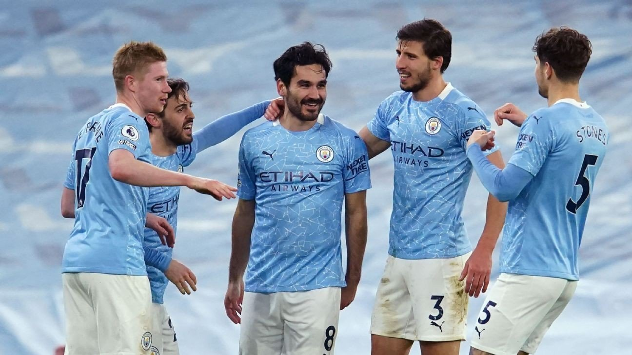 Man City thump Palace, move up to second place