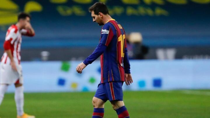 Barcelona boss Koeman defends Messi after red card