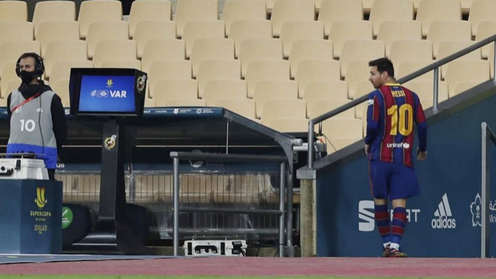 We were prepared to see Messi play badly, but not to see him sent off