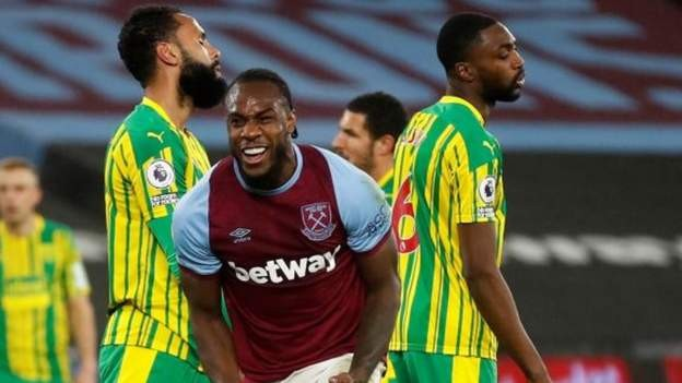 Antonio scores as West Ham beat WBA