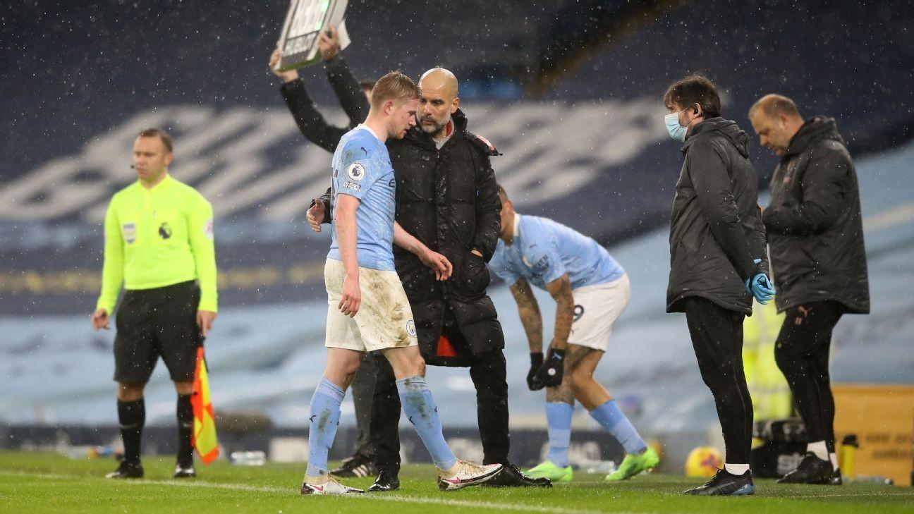 Man City sweating on De Bruyne, Walker injuries
