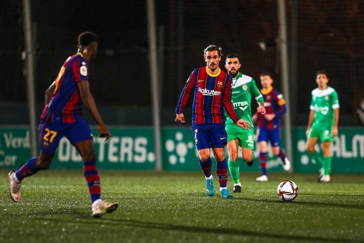 UE Cornella 0-2 Barcelona: Dembele nets in extra-time as Barca miss 2 penalties