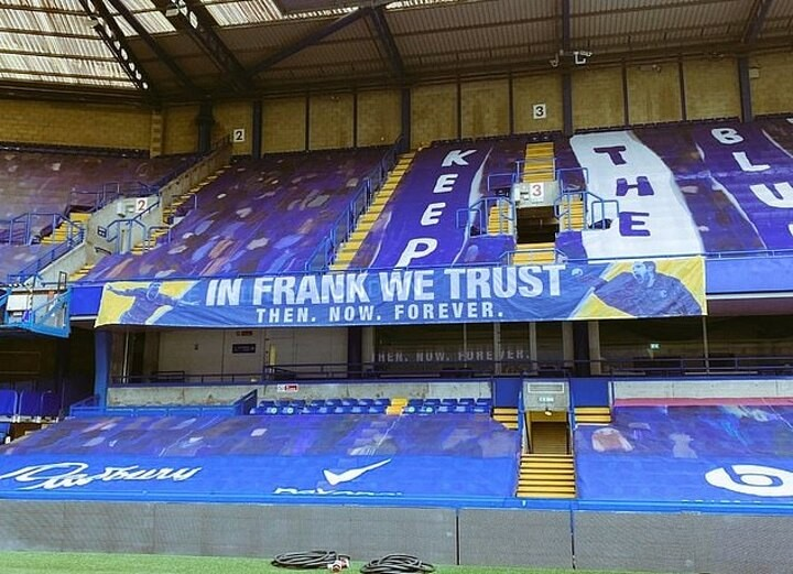 Chelsea fans plan to KEEP flying 'In Frank We Trust' banner despite Lampard's sacking