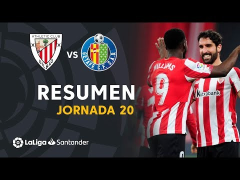 Resumen de Athletic Club vs Getafe CF (5-1)