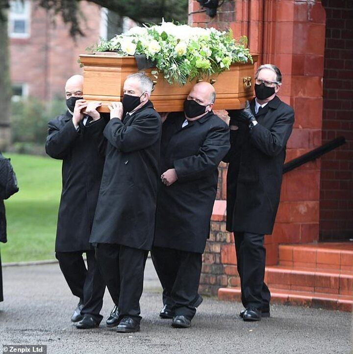 Brian Kid and Mike Summerbee attend funeral of Man City and England legend Colin Bell