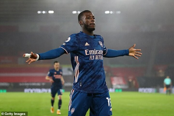 Nicolas Pepe and Alexandre Lacazette dedicate goals to Pierre-Emerick Aubameyang