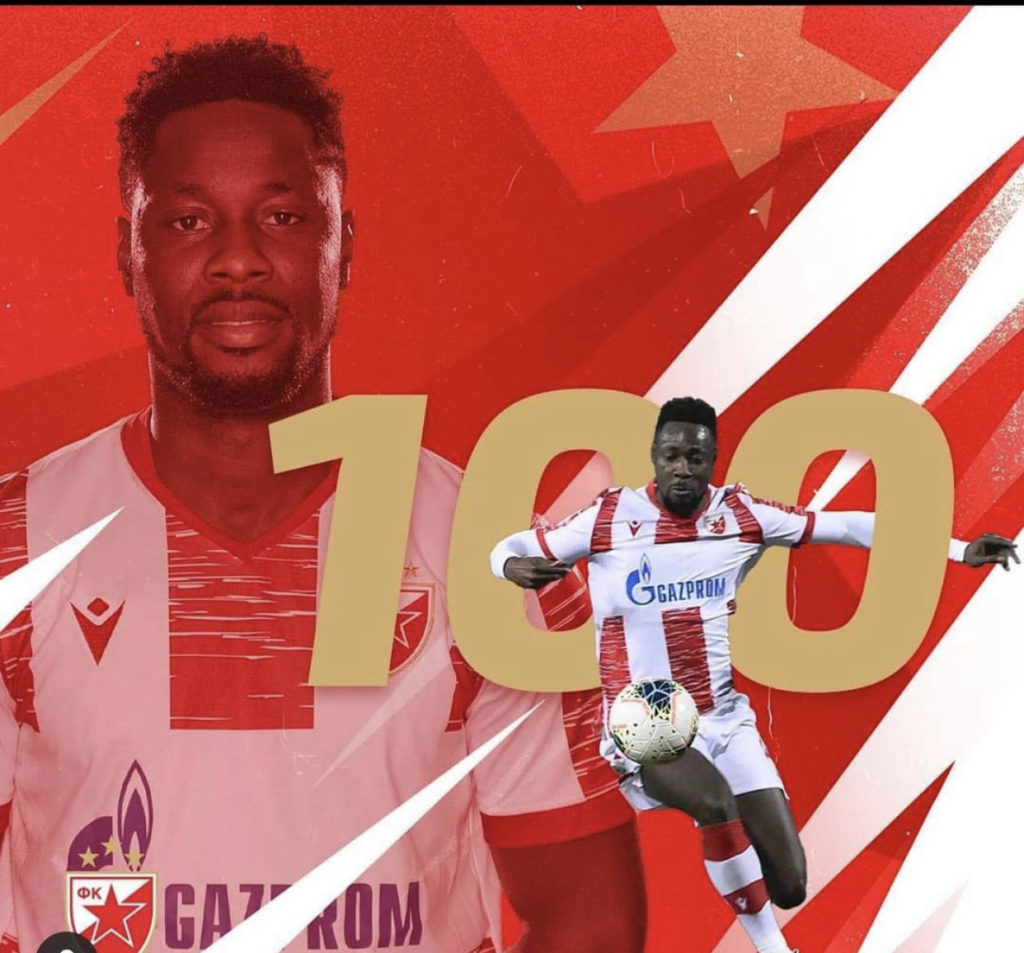 Ghana striker Richmond Boakye-Yiadom scribbles emotional farewell to Red Star Belgrade