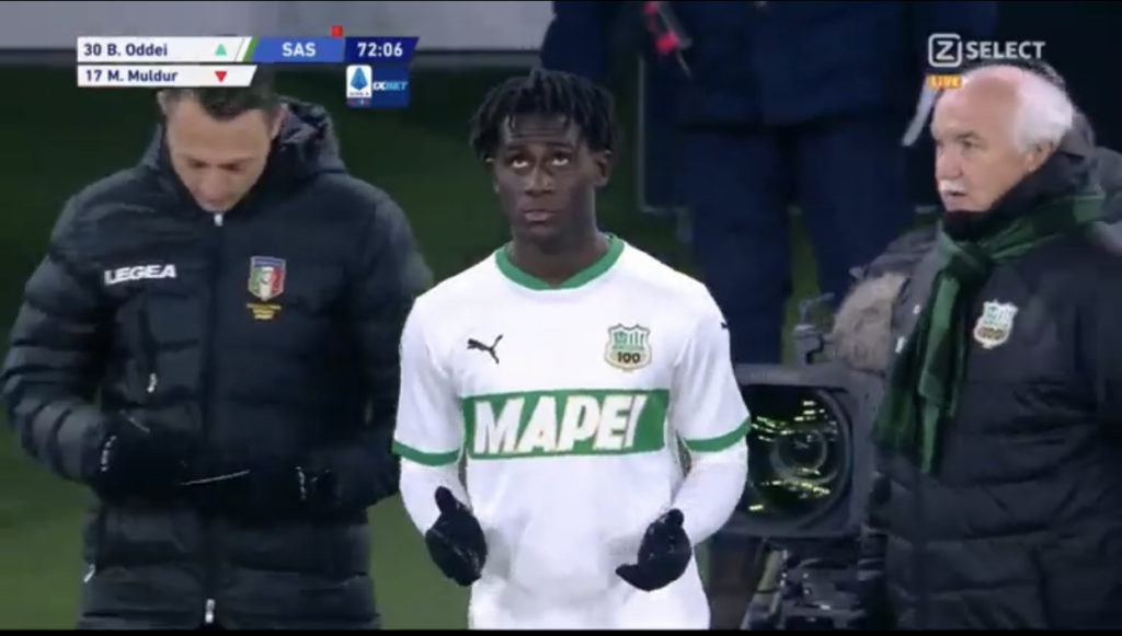 Highly-rated Sassuolo teen Brian Oddei sets Serie A ablaze on debut against Juventus