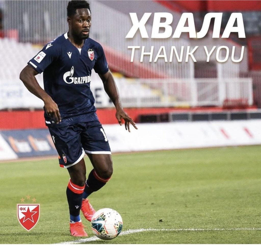 Thank you! Red Star Belgrade wish Richmond Boakye-Yiadom goodbye