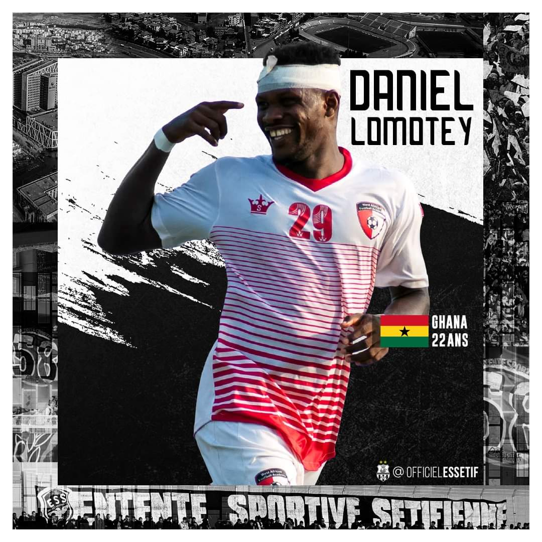 Algerian giants Entente Sportive Setif announce signing of WAFA striker Daniel Lomotey