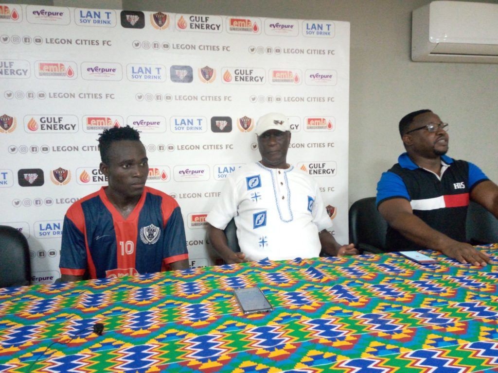 Legon Cities Coach Bashiru Hayford 'pleased' with first win of the season
