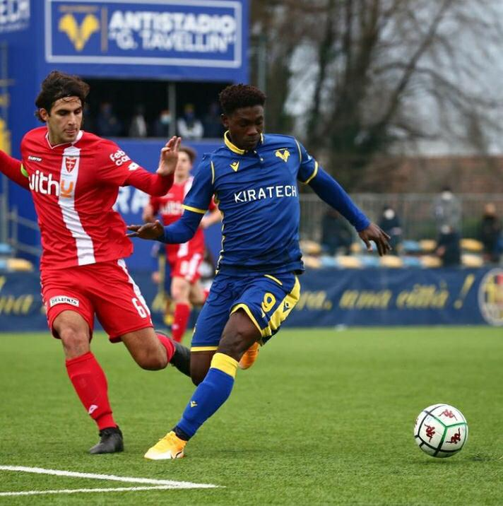 Hellas Verona kid Philip Yeboah scores and assist in Monza drubbing in youth league