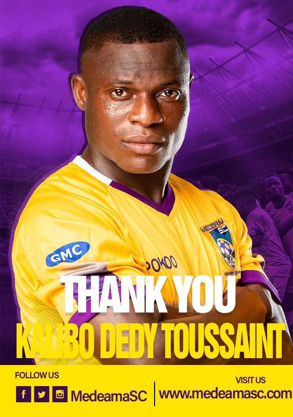 Medeama striker Kalibo Toussaint joins Burkinabe side ASFA Yennenga on a permanent contract