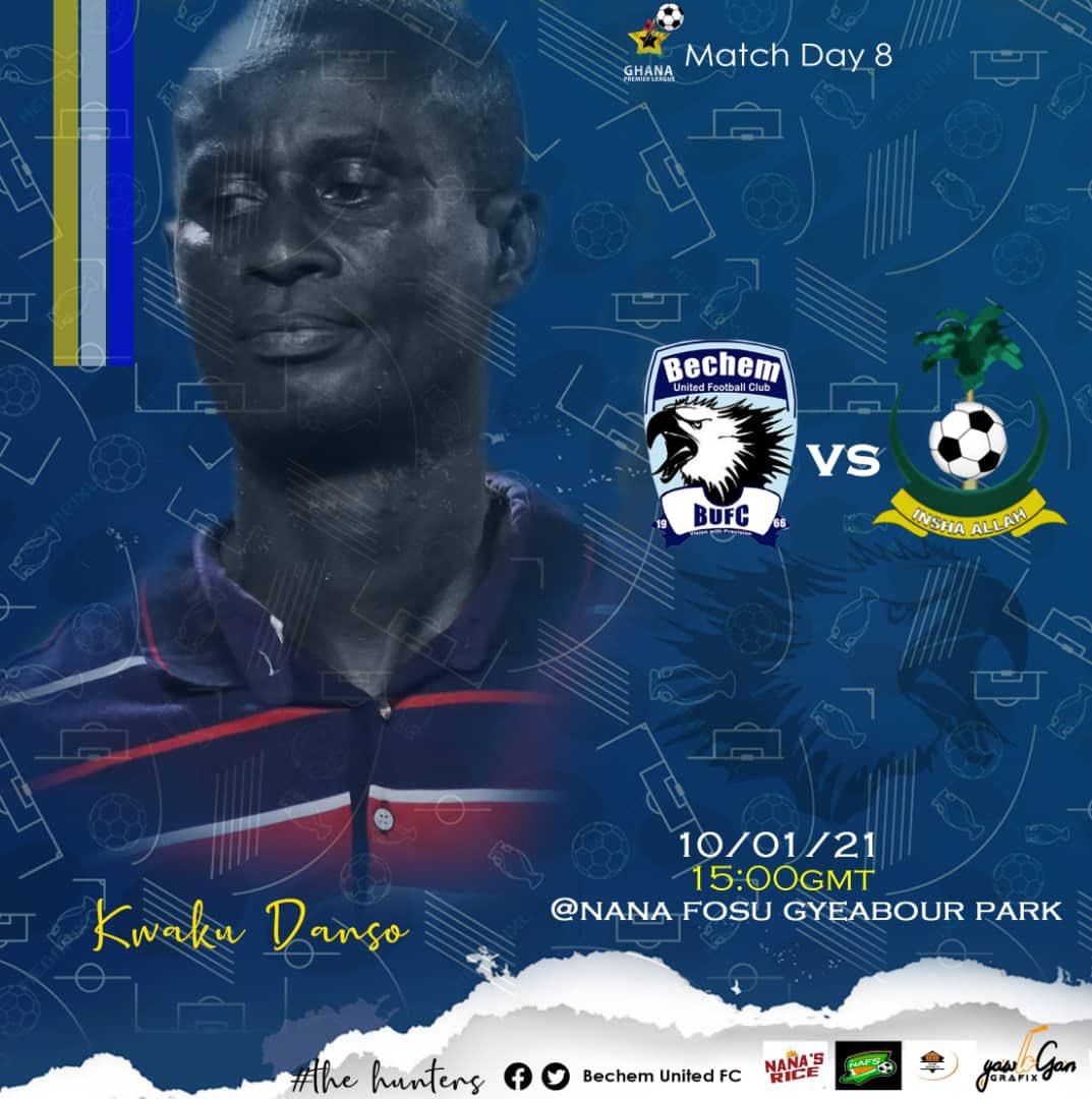 2020/21 Ghana Premier League: Week 8 Match Preview- Bechem United v King Faisal