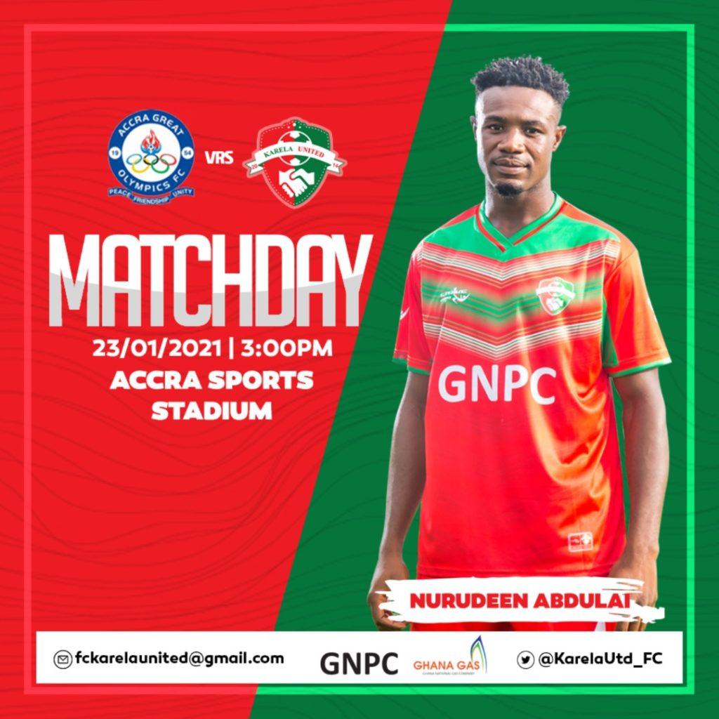 2020/21 Ghana Premier League: Live Updates- Great Olympics vs Karela United