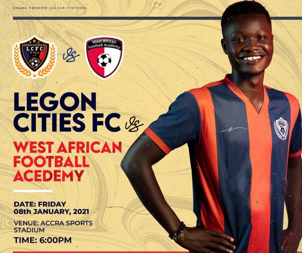 2020/21 Ghana Premier League: Week 8 Match Preview- Legon Cities vs WAFA