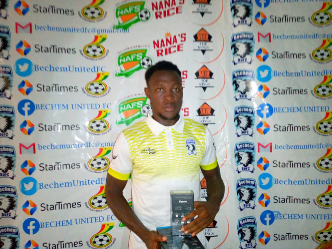 2020/21 Ghana Premier League: Bechem United defender Moro Salifu bags Man of the Match award in draw against King Faisal