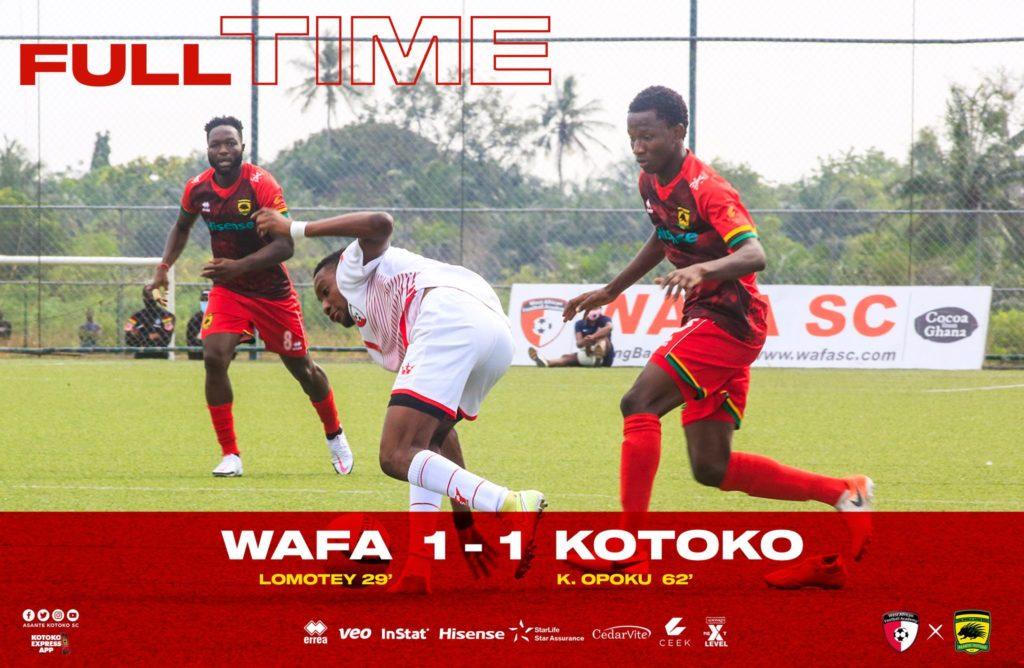 2020/21 Ghana Premier League: Highlights- WAFA 1-1 Asante Kotoko